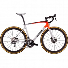 Велосипед шоссе Specialized S-Works Roubaix Dura-Ace Di2 Roval CLX 50 (белый-красный)