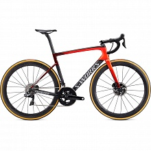 Велосипед шоссе Specialized S-Works Tarmac SL6 Disc Dura-Ace Di2 Roval CLX 50 (серый-красный)